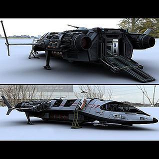 超真实版飞船3d模型