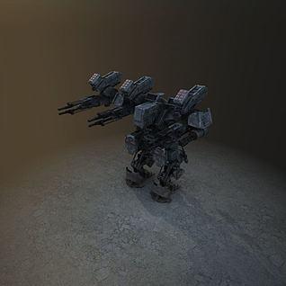 游戏机器人3d模型
