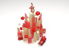 3d春节陈列品模型