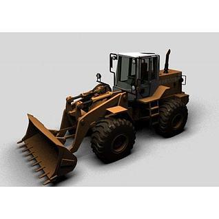 推土装载机3d模型