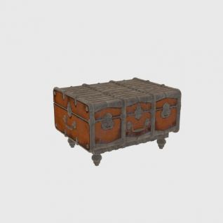 复古皮箱3d模型