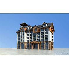 内蒙风格宾馆3D模型3d模型