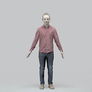 白种人3d模型