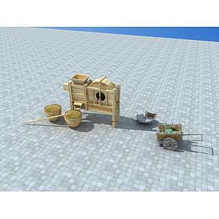 乡村小品3d模型3d模型