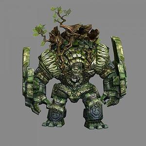 3d石頭怪物模型