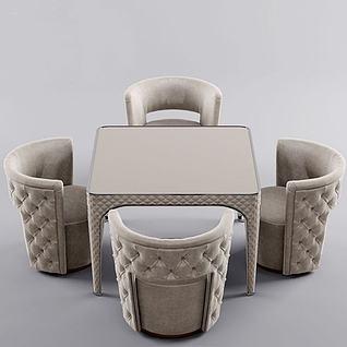 简欧休闲桌椅3d模型3d模型