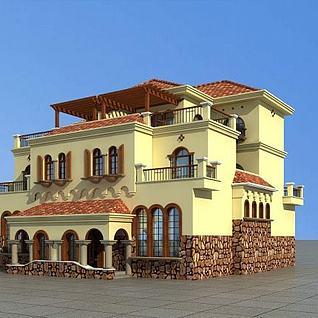 地中海别墅3d模型
