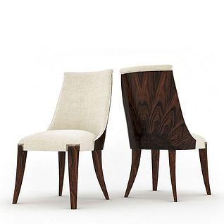 现代餐椅3d模型