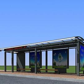 公交候车亭模型