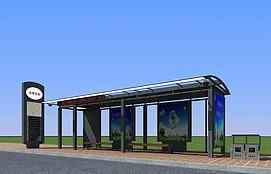 3d公交候车亭模型