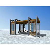 中式花架3D模型3d模型