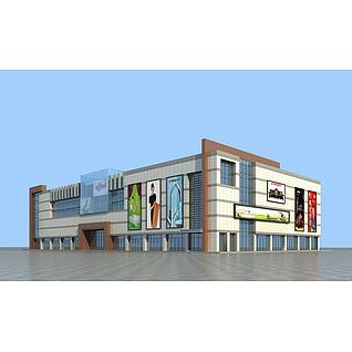 建材市场3d模型3d模型