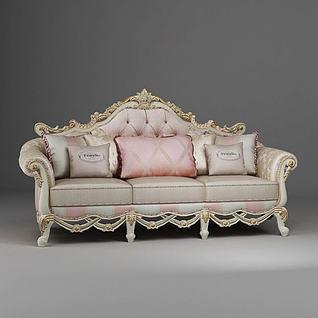 欧式沙发3d模型3d模型