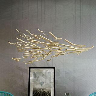 创意树枝吊灯3d模型