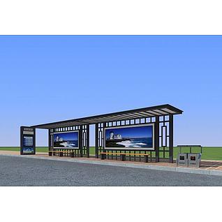 公交候车站3d模型