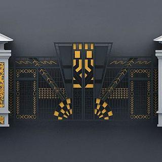 铁艺大门3d模型