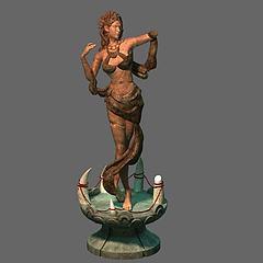 游戏场景雕塑模型3d模型
