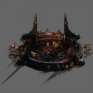 3d祭坛模型