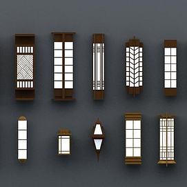 商业壁柱壁灯模型