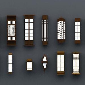 商業壁柱壁燈模型3d模型