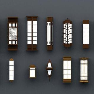 商业壁柱壁灯3d模型