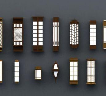 商业壁柱壁灯
