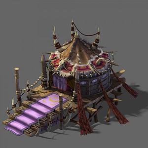 3d游戏场景房屋模型
