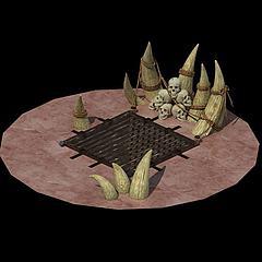 游戏场景地形模型3d模型