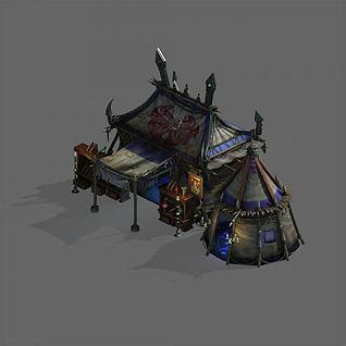 游戏场景帐篷3d模型