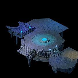 游戏场景地形模型