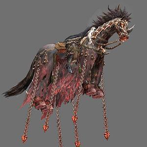 3d游戏怪物马模型