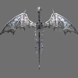 飞龙化石怪物3d模型