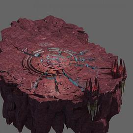 火焰洞窟模型