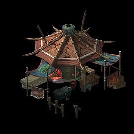 游戏场景房子模型