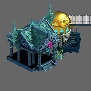 3d游戏场景房子模型