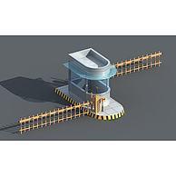 小区停车场栏杆3D模型3d模型