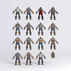 游戏人物模型3d模型