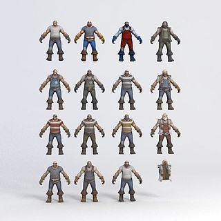 游戏<font class='myIsRed'>人物</font>3d模型