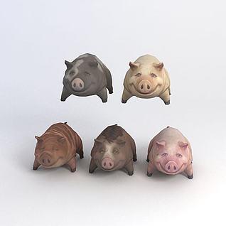 游戏素材猪猪3d模型3d模型