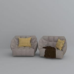 3d布藝沙發模型