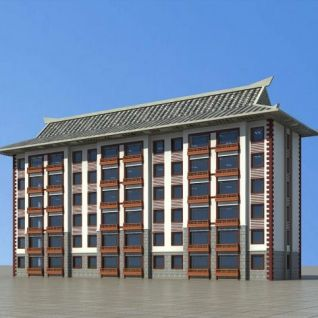 朝鲜族住宅楼3d模型