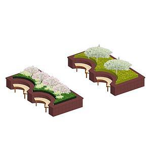 花坛3d模型