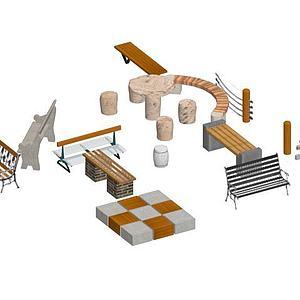 公园座椅3d模型