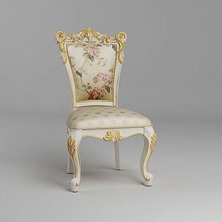 欧式餐椅3d模型3d模型