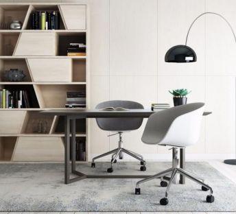 现代书房桌椅