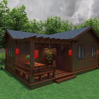 木屋3d模型