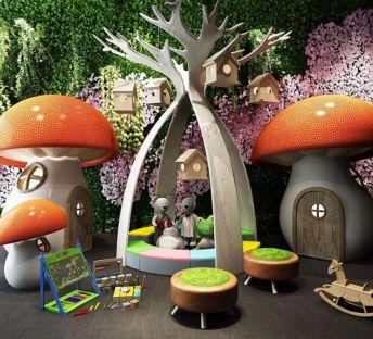 游乐场蘑菇房