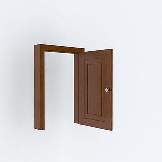 室内木门3d模型3d模型