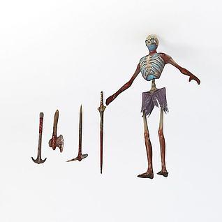 枯骨怪物3d模型