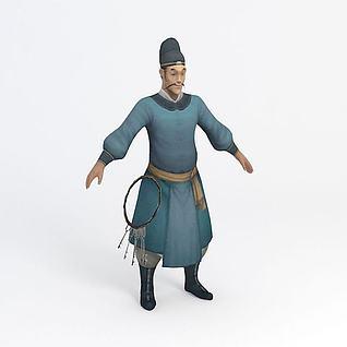 官差衙役游戏角色3d模型